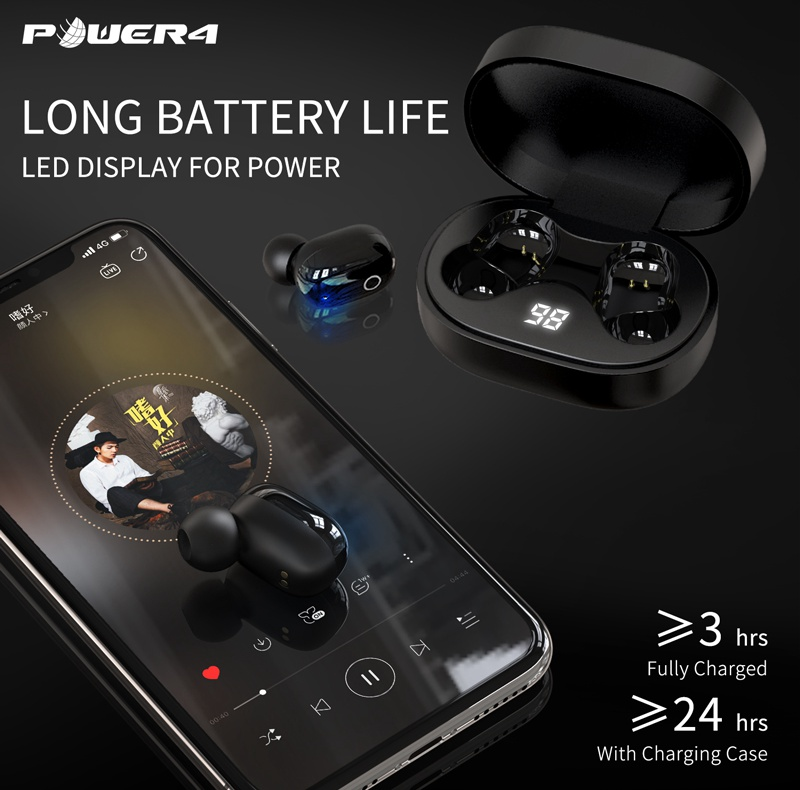 bluetooth5.0 earphone mobile accessories earbuds ipx5 waterproof wireless for samsung