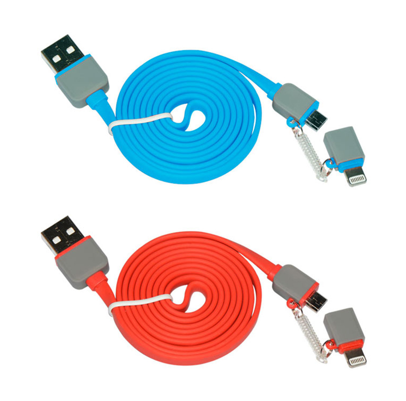 2 in 1 Lightning to Micro USB Flat Cable WPL033