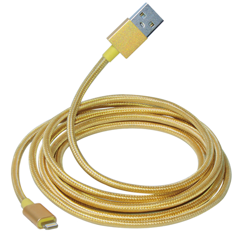 2M Lightning to USB Round Cable With Metal Connectors WPL030