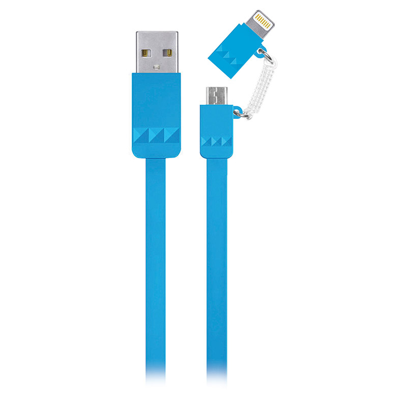 2 in 1 Lightning to Micro USB Flat Cable WPL034