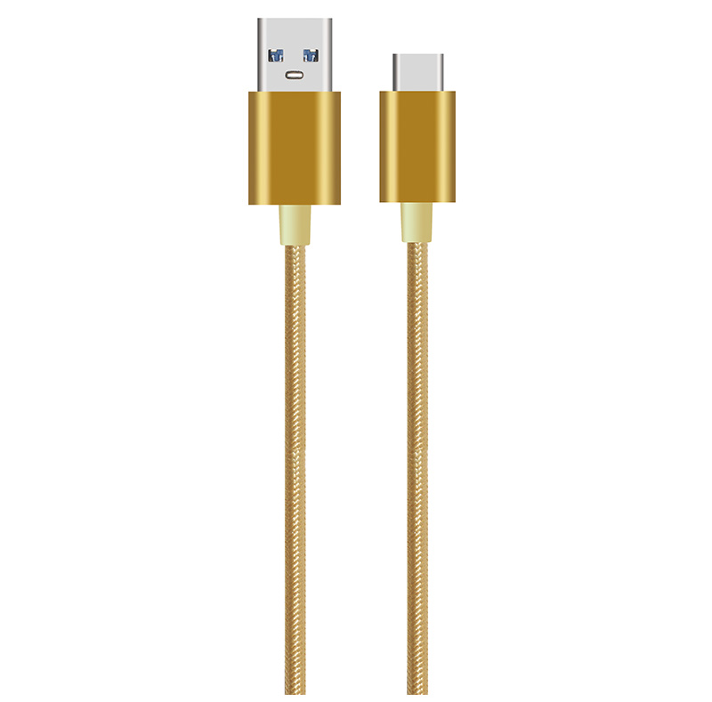 USB-A to USB-C Cable With Metal TP004