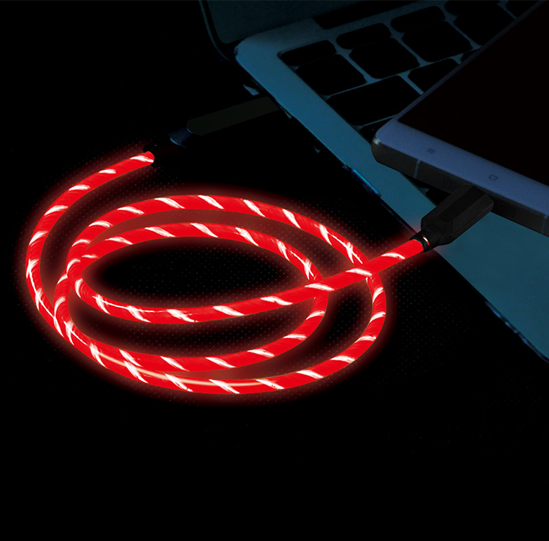 EL Visible  Type-C to USB Flowing Round Cable LD004