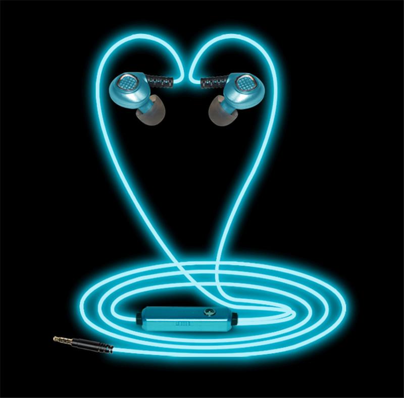 EL Glowing Light Sports Earphone with MIC EP004Z