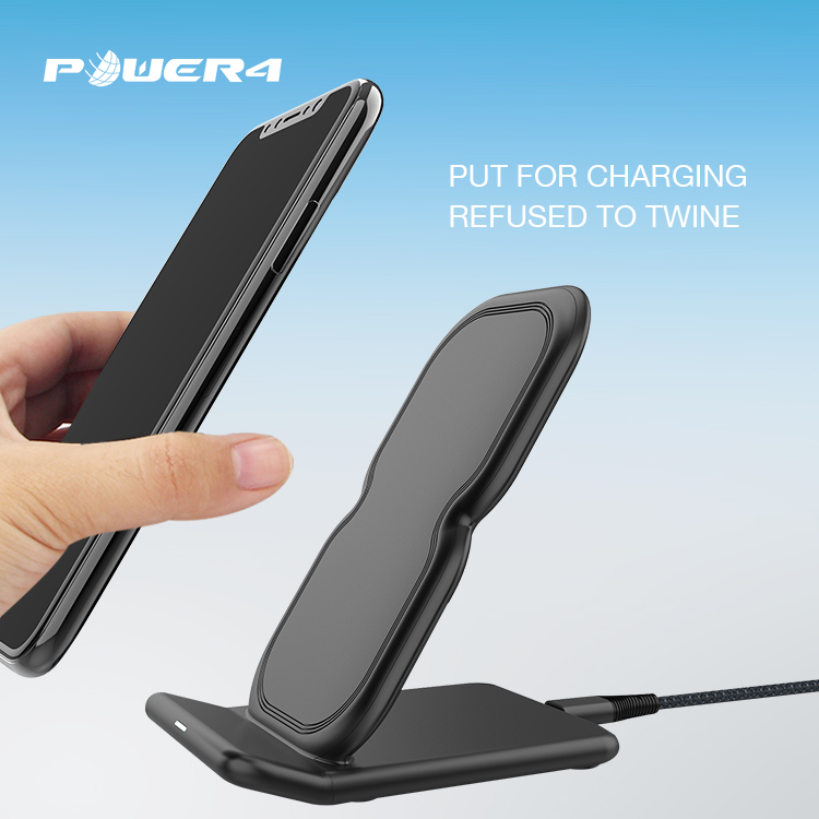 Qi certified wireless charging stand 5W 7.5W 10W for iPhone X/8/8plus