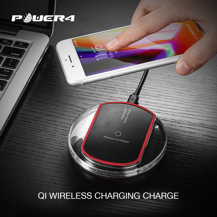 Mobile phone charger Qi certified wireless charger pad 5W 7.5W 10W for Samsung Galaxy S8/S7/S6 Edge Plus/Note 5 and Qi-Enabled Device