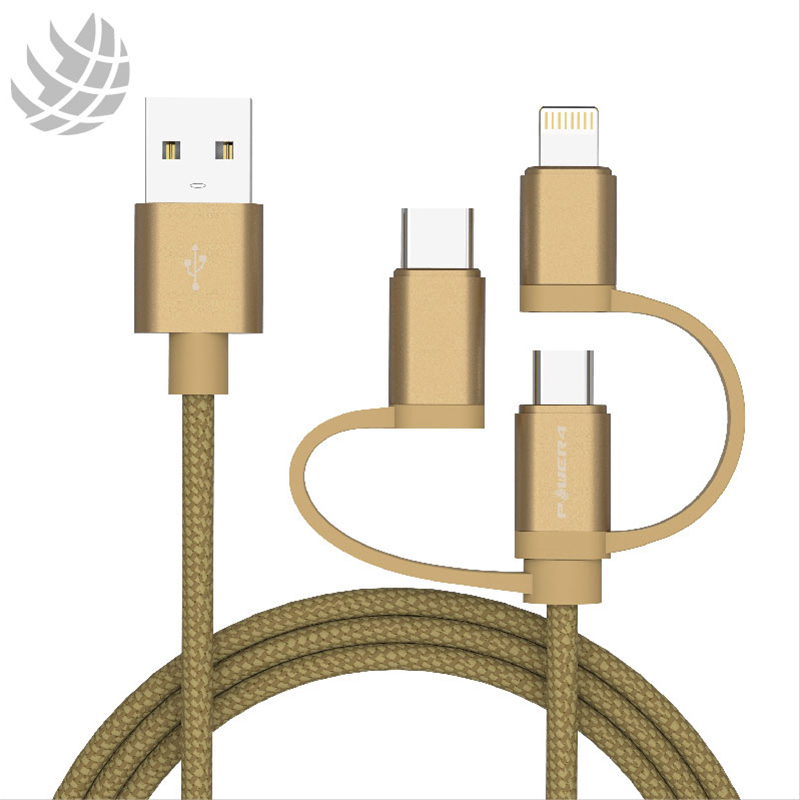 3 in 1 Type -C /Lightning /Micro USB Charging Cable -Sync/Charge for Apple and Android