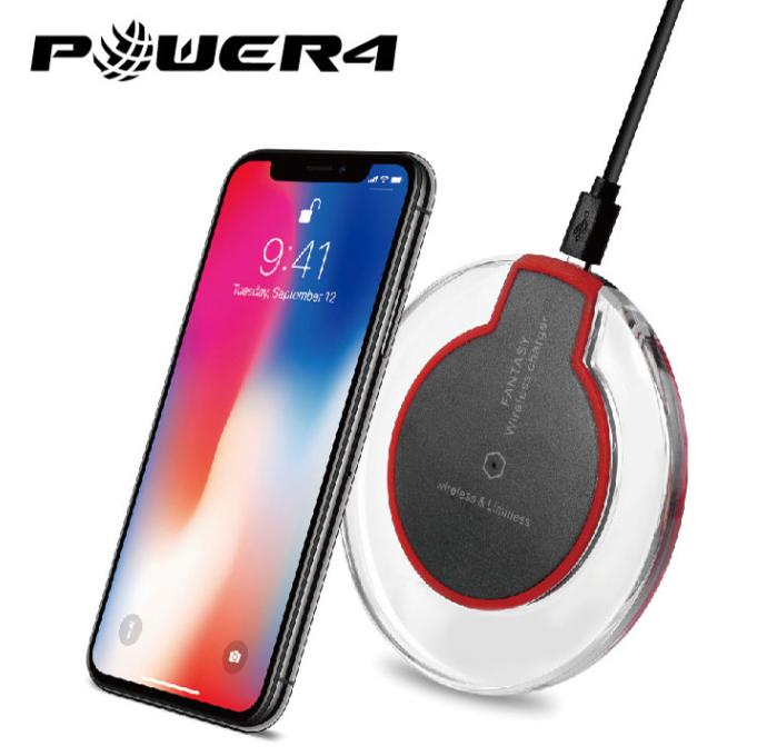Qi fast charger wireless charging pad 10W for iPhone X/8/8plus and all Qi-Enabled Devices