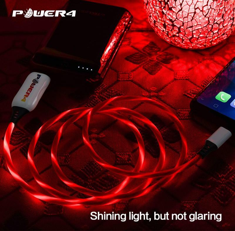 Original flash charging LED light up 5V 4A Android super fast charging cable