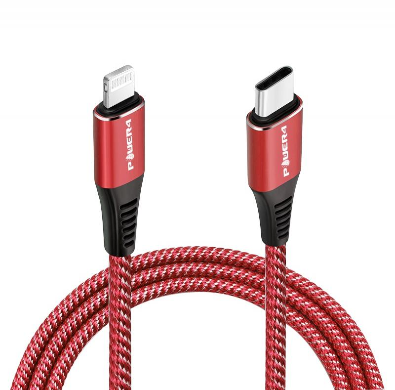 fast charging braided ipad cable mobile phone c to lightning pd cable with packaging