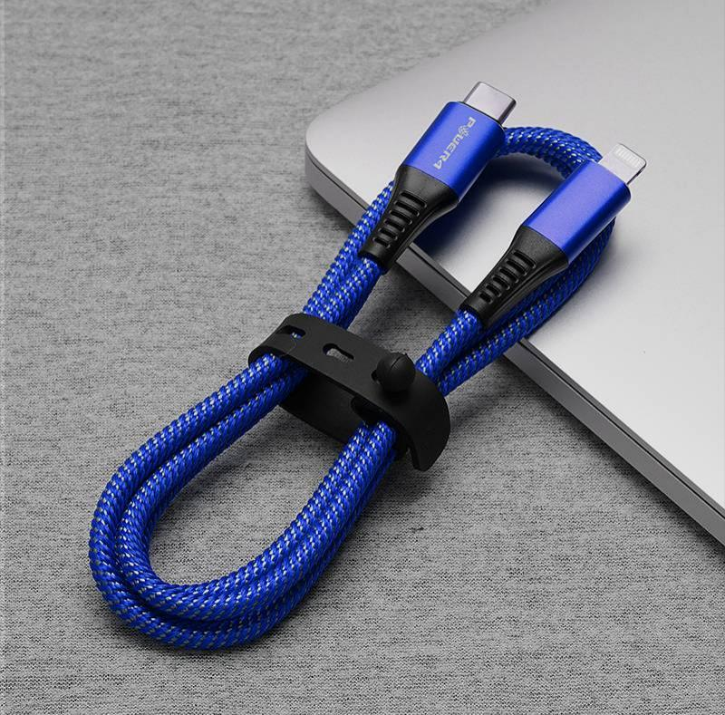 best iphone type c to lightning charger blue nylon braided new mfi pd cable